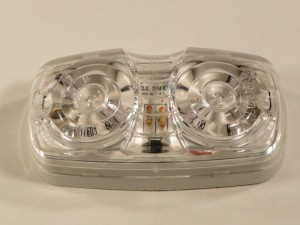 DBL BULLSEYE LED,AMBER,C