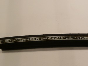 3/4 in High Pressure hydraulic hose