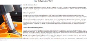 How do hydraulics work